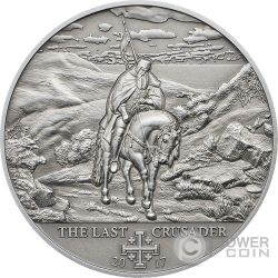 CRUSADE 10 Last Crusader Silver Coin 5$ Cook Islands 2017
