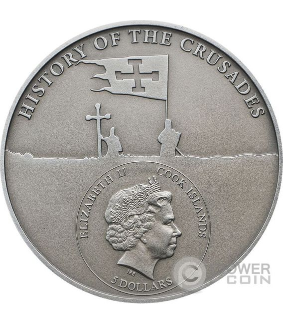 CRUSADE 10 Last Crusader Silver Coin 5$ Cook Islands 2017