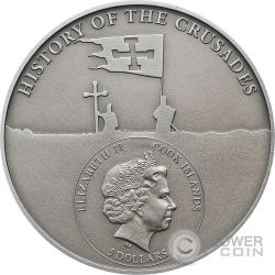 CRUSADE 10 Cruzada Last Crusader Moneda Plata 5$ Cook Islands 2017