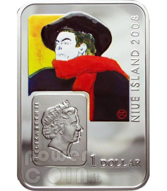 LAUTREC Henri De Toulouse Silver Coin 1$ Niue 2008