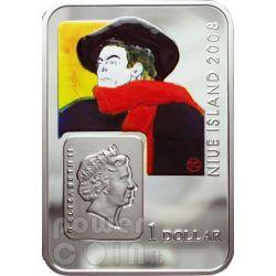 LAUTREC Henri De Toulouse Серебро Монета 1$ Ниуэ 2008