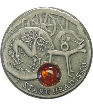 STARE HRADISKO Via Ambra Amber Moneta Argento 1$ Niue 2010