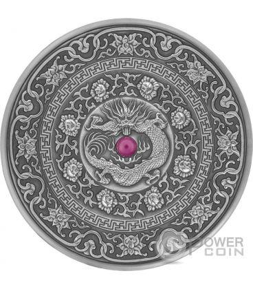 CHINESE DRAGON Mandala Art 3 Oz Silver Coin 10$ Fiji 2017