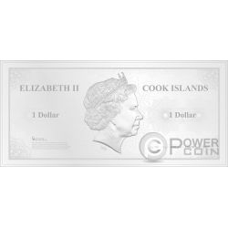 NEW YORK Skyline Dollars Foil Silver Note 1$ Cook Islands 2017
