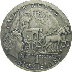 STARE HRADISKO Amber Route Road Silver Coin 1$ Niue 2010