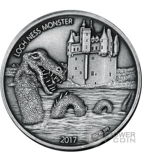 LOCH NESS MONSTER Mythical Creatures 1 Oz Silver Coin 1000 Francs Burkina Faso 2017