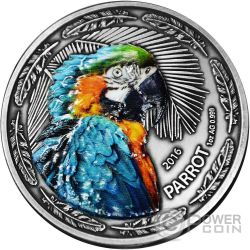 PARROT Papagayo 1 Oz Moneda Plata 1000 Francos Burkina Faso 2016