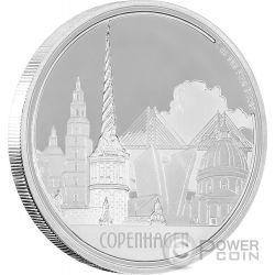 COPENHAGEN Copenaghen Great Cities 1 Oz Moneta Argento 2$ Niue 2017