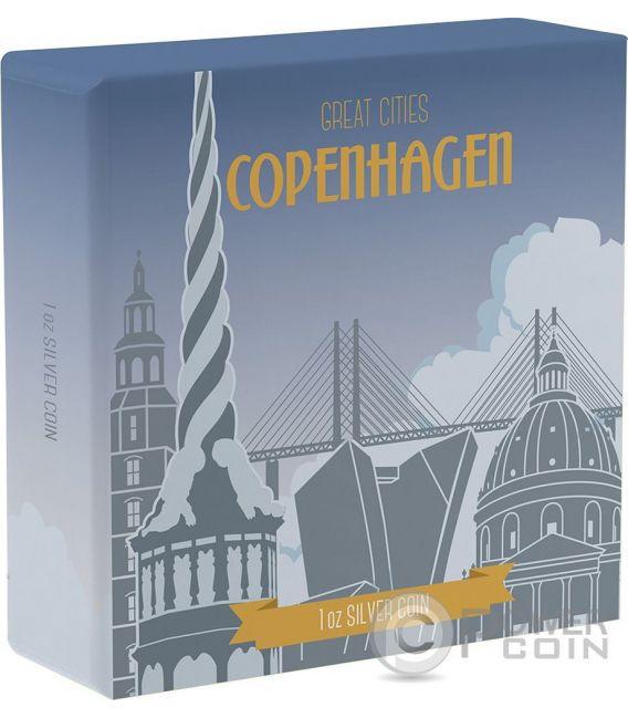 COPENHAGEN Great Cities 1 Oz Silver Coin 2$ Niue 2017