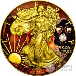 OUTBREAK Armageddon Eagle Walking Liberty 1 Oz Moneda Plata 1$ US Mint 2017