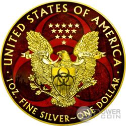 OUTBREAK Armageddon Eagle Walking Liberty 1 Oz Silver Coin 1$ US Mint 2017