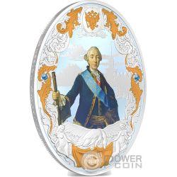 PETER III Pedro Russian Emperors 2 Oz Moneda Plata 5$ Niue 2014