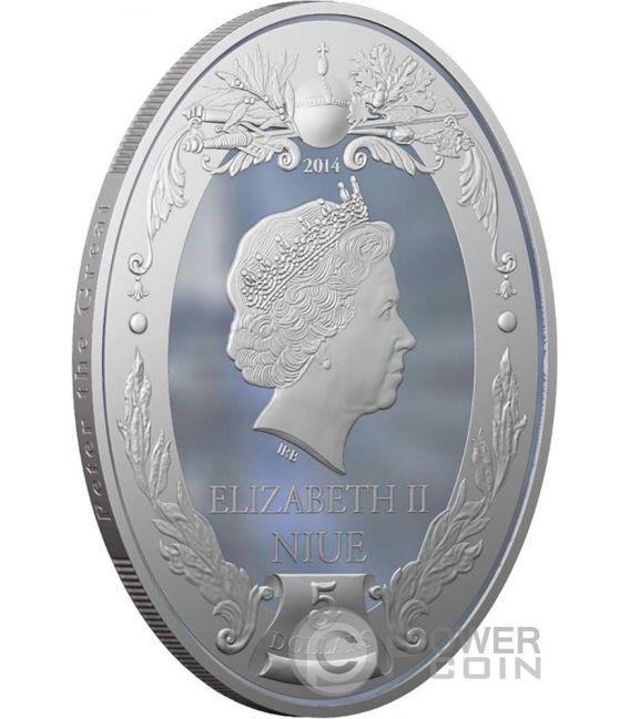PETER III Russian Emperors 2 Oz Silver Coin 5$ Niue 2014