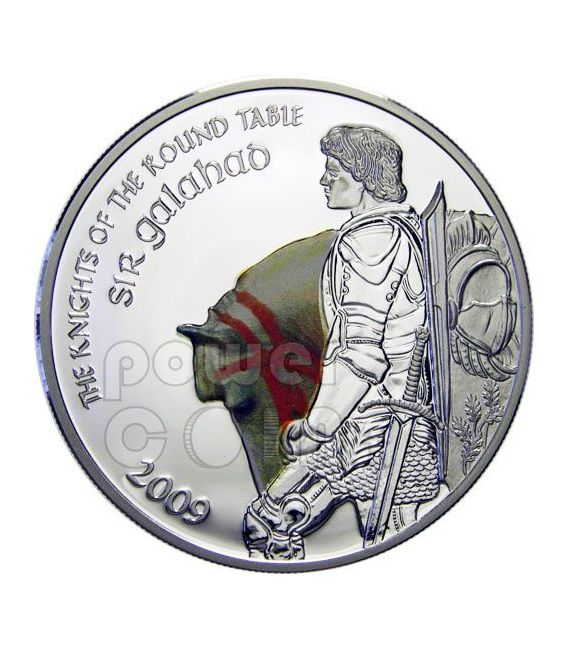SIR GALAHAD Knights Of Round Table Silber Münze 5$ Cook Islands 2009