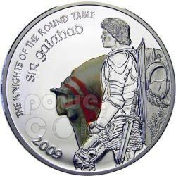 SIR GALAHAD Cavaliere Tavola Rotonda Moneta Argento 5$ Cook Islands 2009