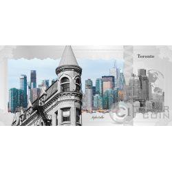 TORONTO Skyline Dollars Foil Banconota Argento 1$ Cook Islands 2017