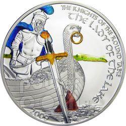 DAMA DEL LAGO Tavola Rotonda Moneta Argento 5$ Cook Islands 2009