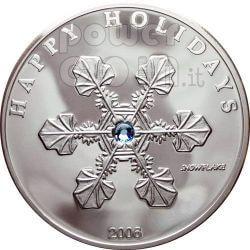 FIOCCO DI NEVE Moneta Argento Swarovski 1$ Palau 2006