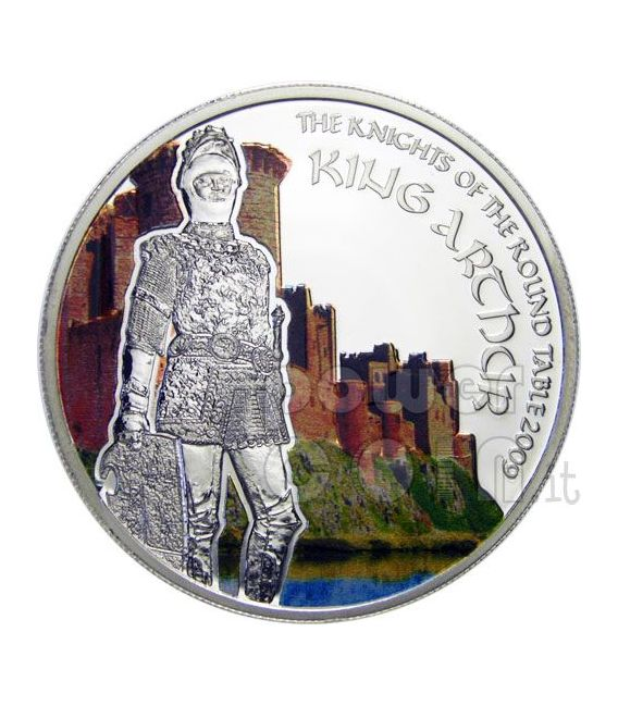 SILVER COIN KING ARTHUR KNIGHTS OF ROUND TABLE COOK ISLANDS 2009