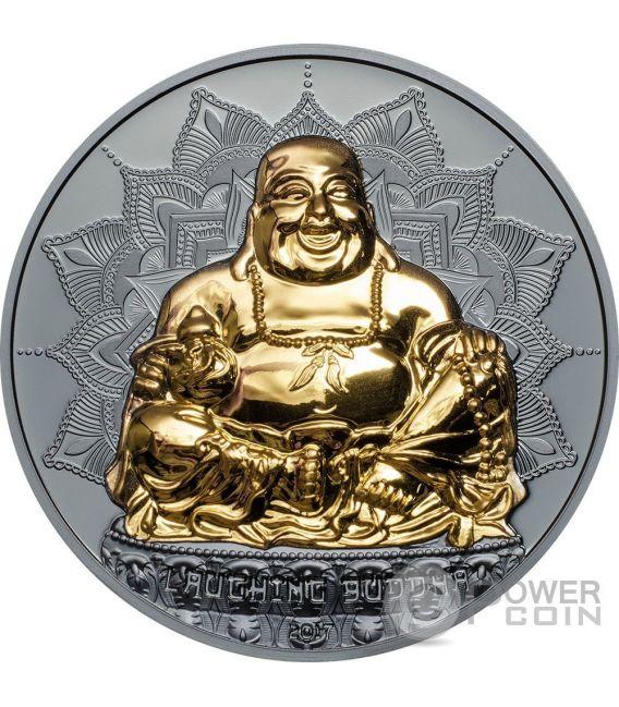 LAUGHING BUDDHA 2 Oz Silver Coin 10$ Palau 2017