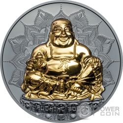 LAUGHING BUDDHA 2 Oz Silver Coin 10$ Palau 2017