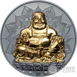 LAUGHING BUDDHA Sonrie 2 Oz Moneda Plata 10$ Palau 2017