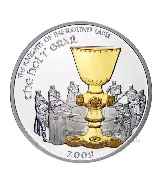 HOLY GRAIL Knights Of Round Table Silber Münze 5$ Cook Islands 2009