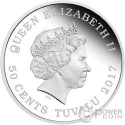 EMPEROR PENGUIN Polar Babies Silver Coin 50 Cents Tuvalu 2017