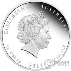 HENRY LAWSON 150 Anniversary 5 Oz Silver Coin 8$ Australia 2017