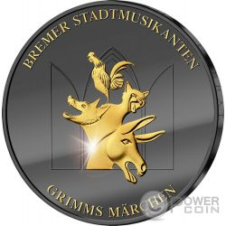 TOWN MUSICIANS OF BREMEN Musicos de Bremen Golden Enigma Moneda Plata 20€ Euros Germany 2017
