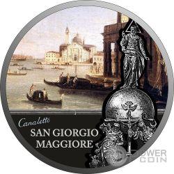 SAN GIORGIO MAGGIORE SOS Venice 1 Oz Moneta Argento 2$ Niue 2017