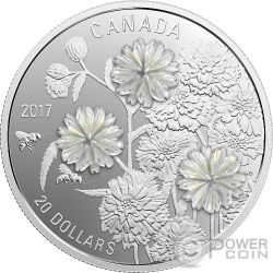 PEARL FLOWERS 1 Oz Silver Coin 20$ Canada 2017