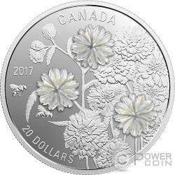 PEARL FLOWERS Perle Blumen 1 Oz Silber Münze 20$ Canada 2017