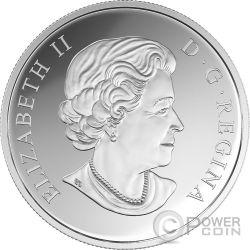 PEARL FLOWERS Flores de Perlas 1 Oz Moneda Plata 20$ Canada 2017