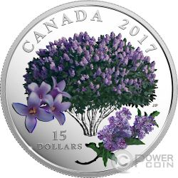 LILAC BLOSSOMS Lilla Sboccia Celebration of Spring Moneta Argento 15$ Canada 2017