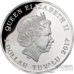 BULL SHARK Bullenhai Australia Deadly Dangerous 1 Oz Silber Münze 1$ Tuvalu 2017