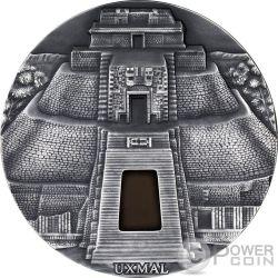 UXMAL Pyramid of the Magician 1 Kg Kilo Серебро Монета 10000 Франков Чад 2017