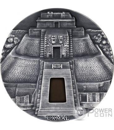 UXMAL Pyramid of the Magician 1 Kg Kilo Silver Coin 10000 Francs Chad 2017