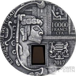 UXMAL Piramide del Mago 1 Kg Kilo Moneta Argento 10000 Franchi Chad 2017