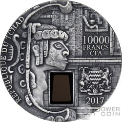 UXMAL Pyramid of the Magician 1 Kg Kilo Silver Coin 10000 Francs Chad 2017
