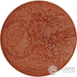 MARS NWA 7397 Meteorite Solar System 1 Oz Серебро Монета 1$ Ниуэ 2017