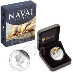 HAMPTON ROADS Naval Battle 1862 Moneda Plata 1$ Cook Islands 2010