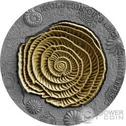 NUMMULITES Evolution of Earth 2 Oz Moneda Plata 2$ Niue 2017