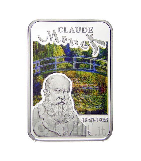 MONET Claude Japanese Bridge Silber Münze 1$ Niue 2010