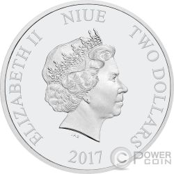 MICKEYS DELAYED DATE Through The Ages Disney 1 Oz Moneda Plata 2$ Niue 2017