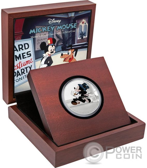 MICKEYS DELAYED DATE Through The Ages Disney 1 Oz Silver Coin 2$ Niue 2017