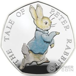 PETER RABBIT Coniglio Beatrix Potter Moneta Argento United Kingdom 2017
