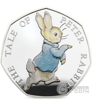 PETER RABBIT Beatrix Potter Silver Coin United Kingdom 2017