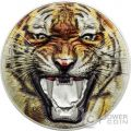 BENGAL TIGER Tigre del Bengala Rare Wildlife 2 Oz Moneta Argento 1500 Shillings Tanzania 2017