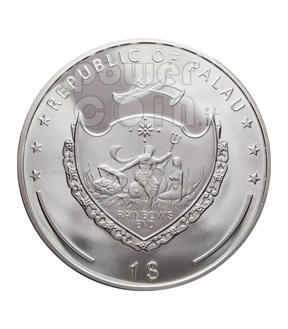 SNOWFLAKE Swarovsky Crystal Silber Münze 1$ Palau 2006